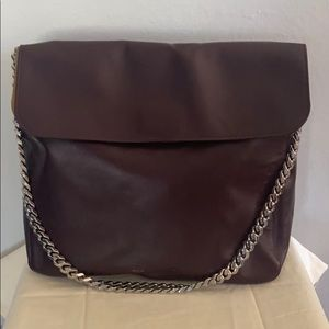 Celine Gourmette Leather Shoulder Handbag